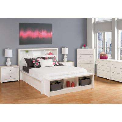 Calla 5-Drawer White Chest