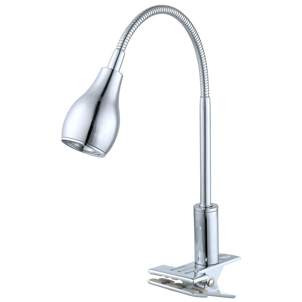 null Naira 1-Light 24 in. Chrome Clip Lamp
