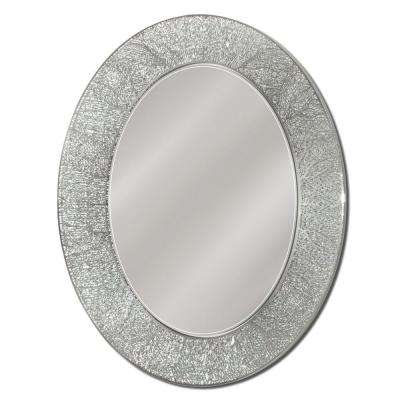 23 in. x 29 in. Frameless Vanity Oval Mirror