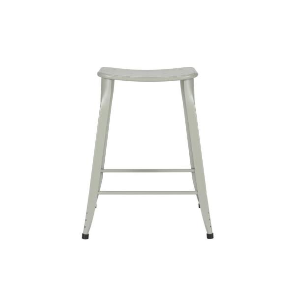 DHP Nash 24 in. Grey Counter Stool (Set of 2)
