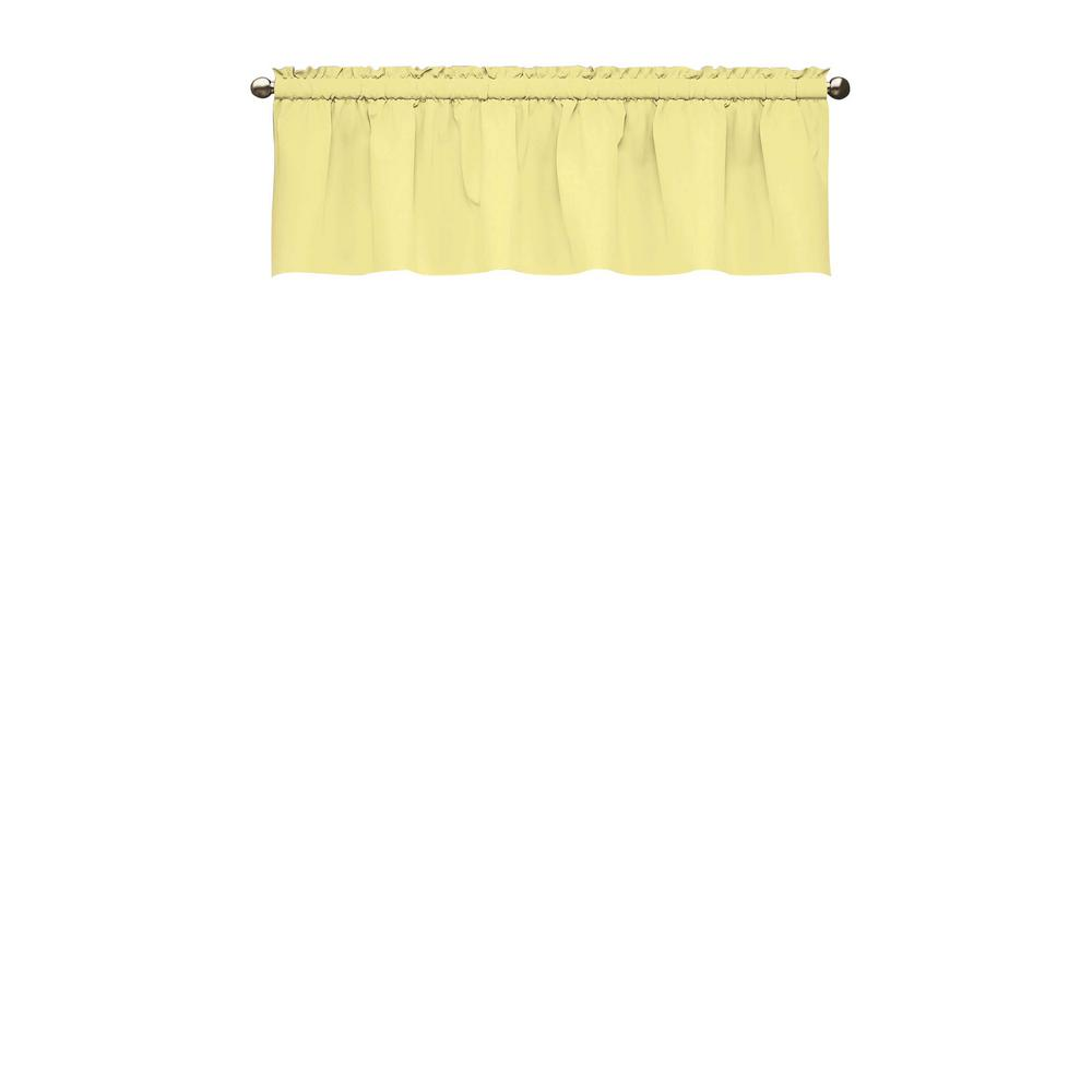 Eclipse 18 In L Kids Microfiber Polyester Blackout Window Valance Yellow