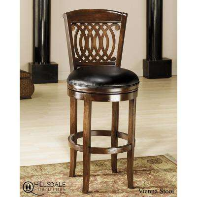 Vienna 24 in. Rich Brown Tobacco Swivel Cushioned Bar Stool