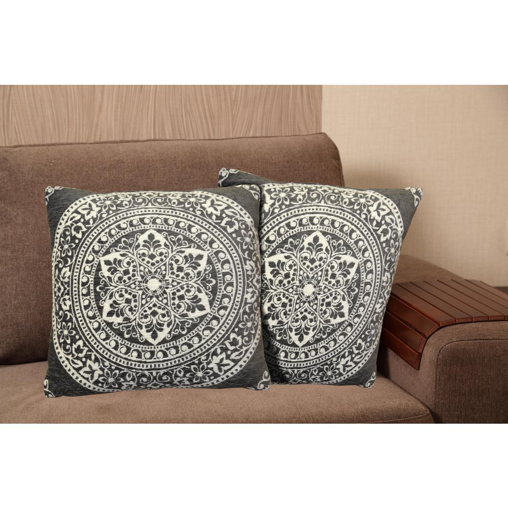 Home Dynamix Chenille 20 in. Gray Decorative Pillow-CH20-20 ...
