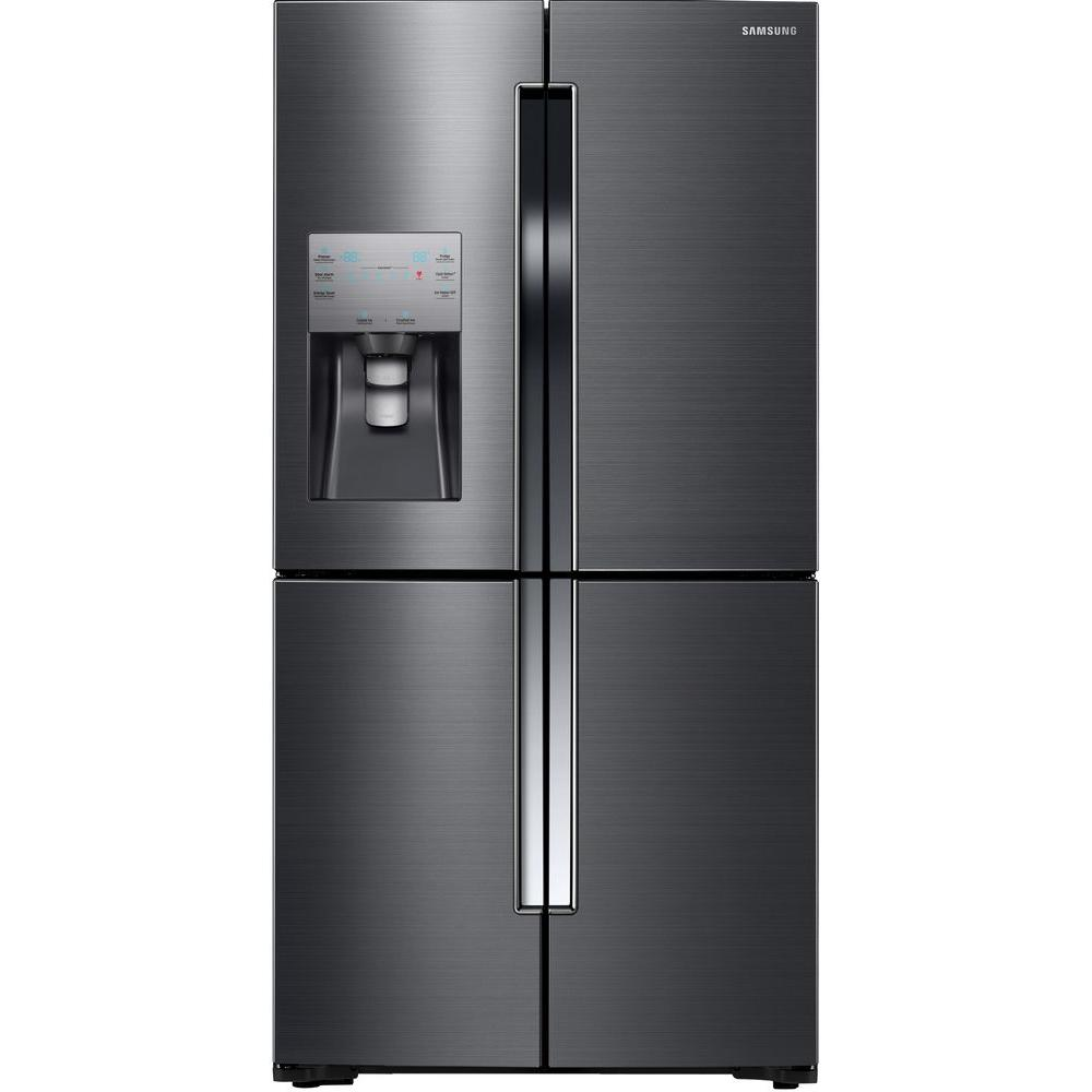 Samsung 22 5 Cu Ft French Door Refrigerator In Black