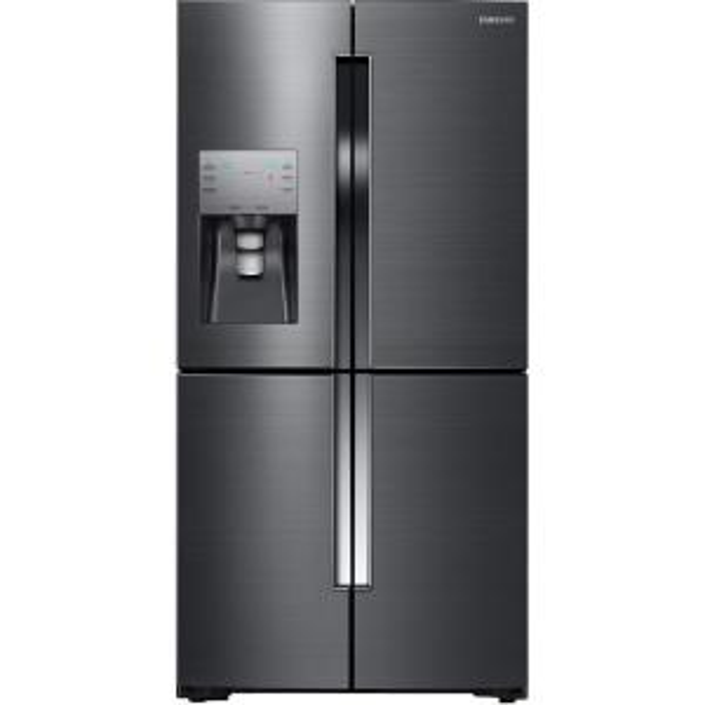 samsung 22 5 cu ft french door refrigerator in black stainless steel rf23j9011sg the home depot. Black Bedroom Furniture Sets. Home Design Ideas