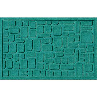 Stone Path Aquamarine 24 in. x 36 in. Polypropylene Door Mat