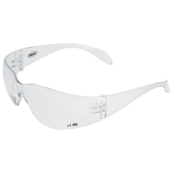 2.5 Power Iprotect Readers Bifocal Eye Protection, Clear Temple and Clear Lens