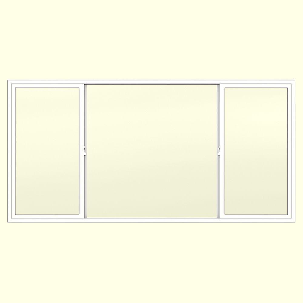 JELD-WEN 95.5 in. x 47.5 in. V-2500 XOX Sliding Vinyl Window - White