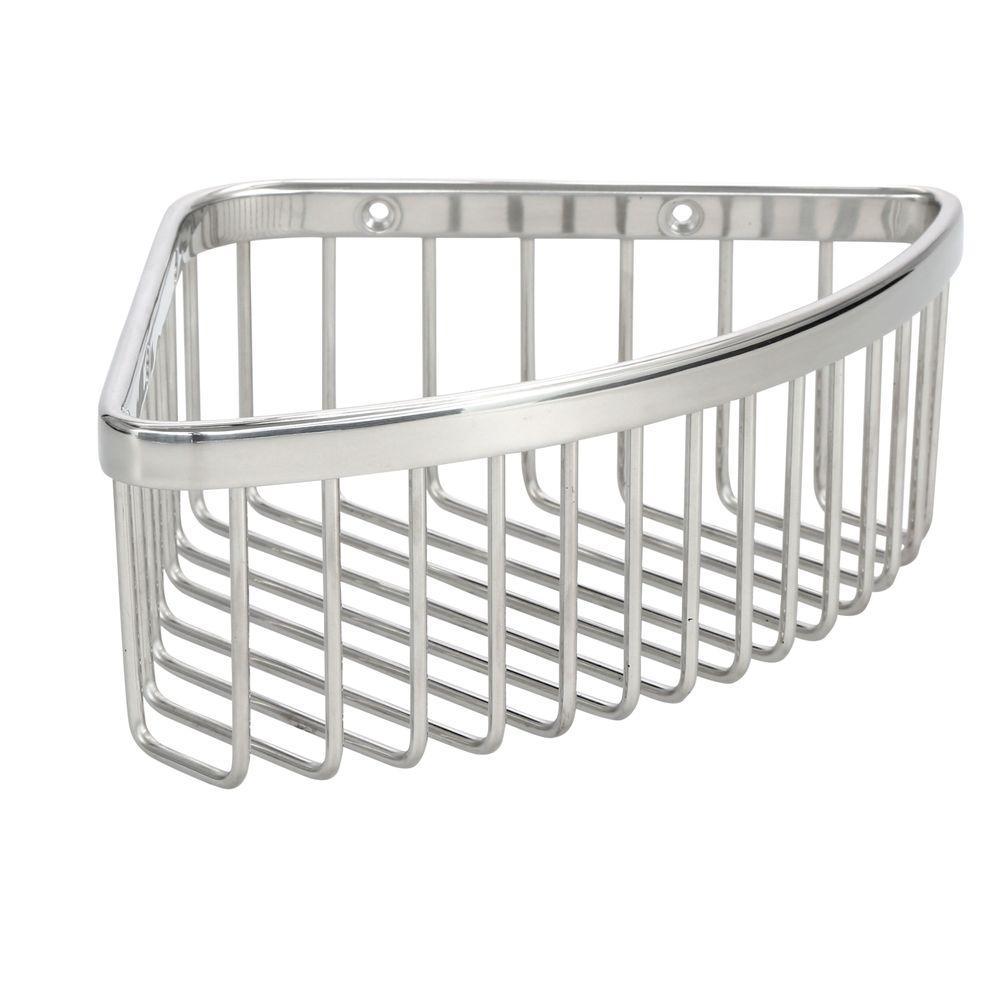 KOHLER Medium Shower Basket In Polished Stainless K 1896 S   The Home Depot