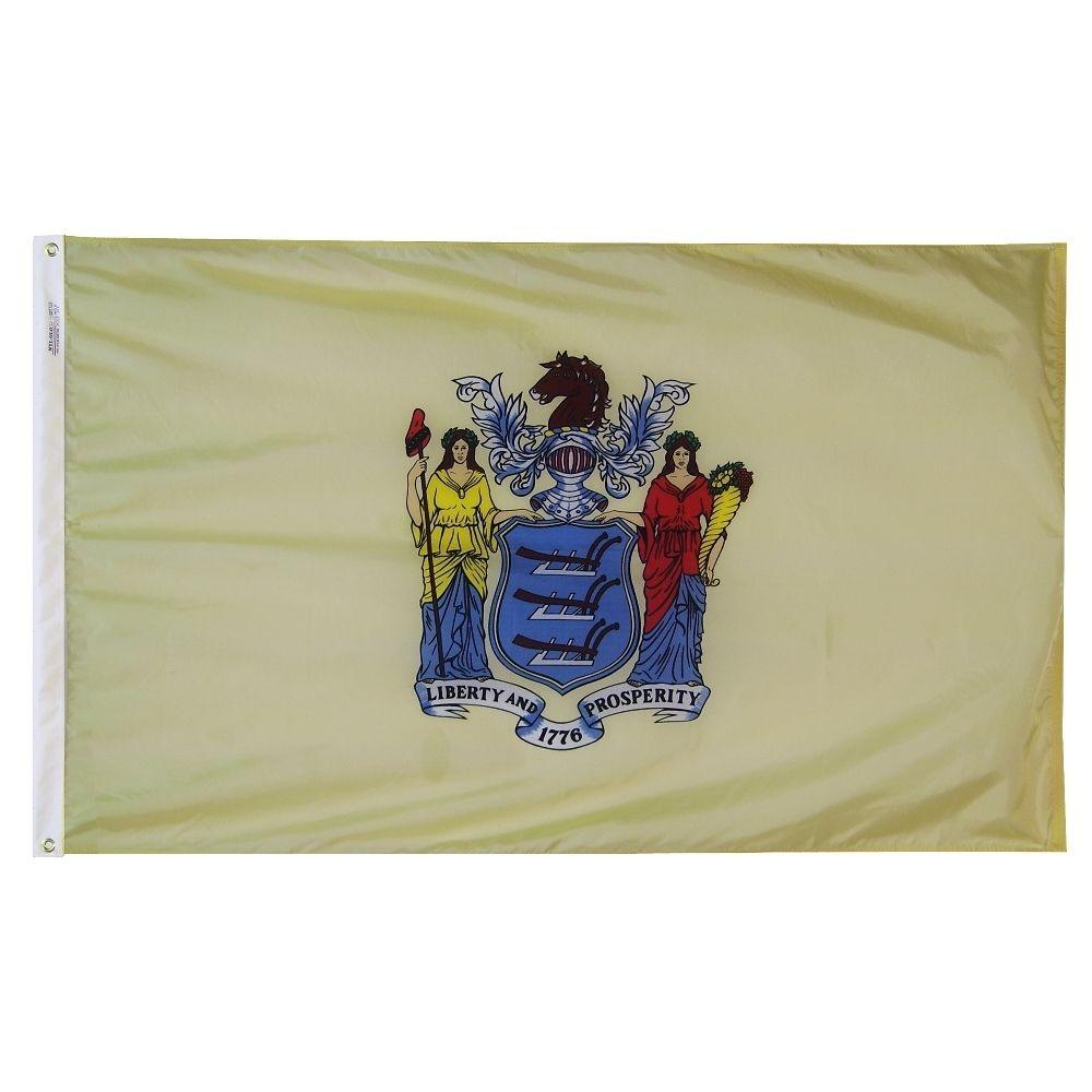 Annin Flagmakers 4 ft. x 6 ft. New Jersey State Flag