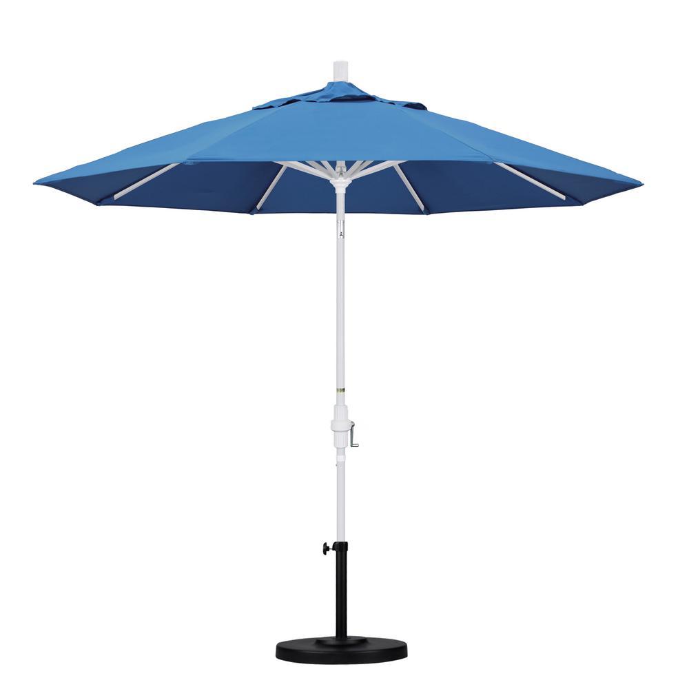 California Umbrella 9 ft. Aluminum Collar Tilt Patio Umbrella in Capri Pacifica