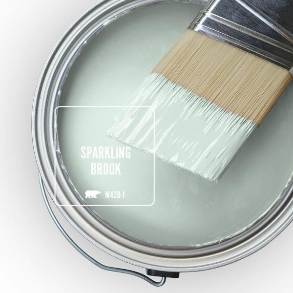 Reviews For Behr Premium Plus 5 Gal M420 1 Sparkling Brook Flat Low Odor Interior Paint And Primer In One 105005 The Home Depot