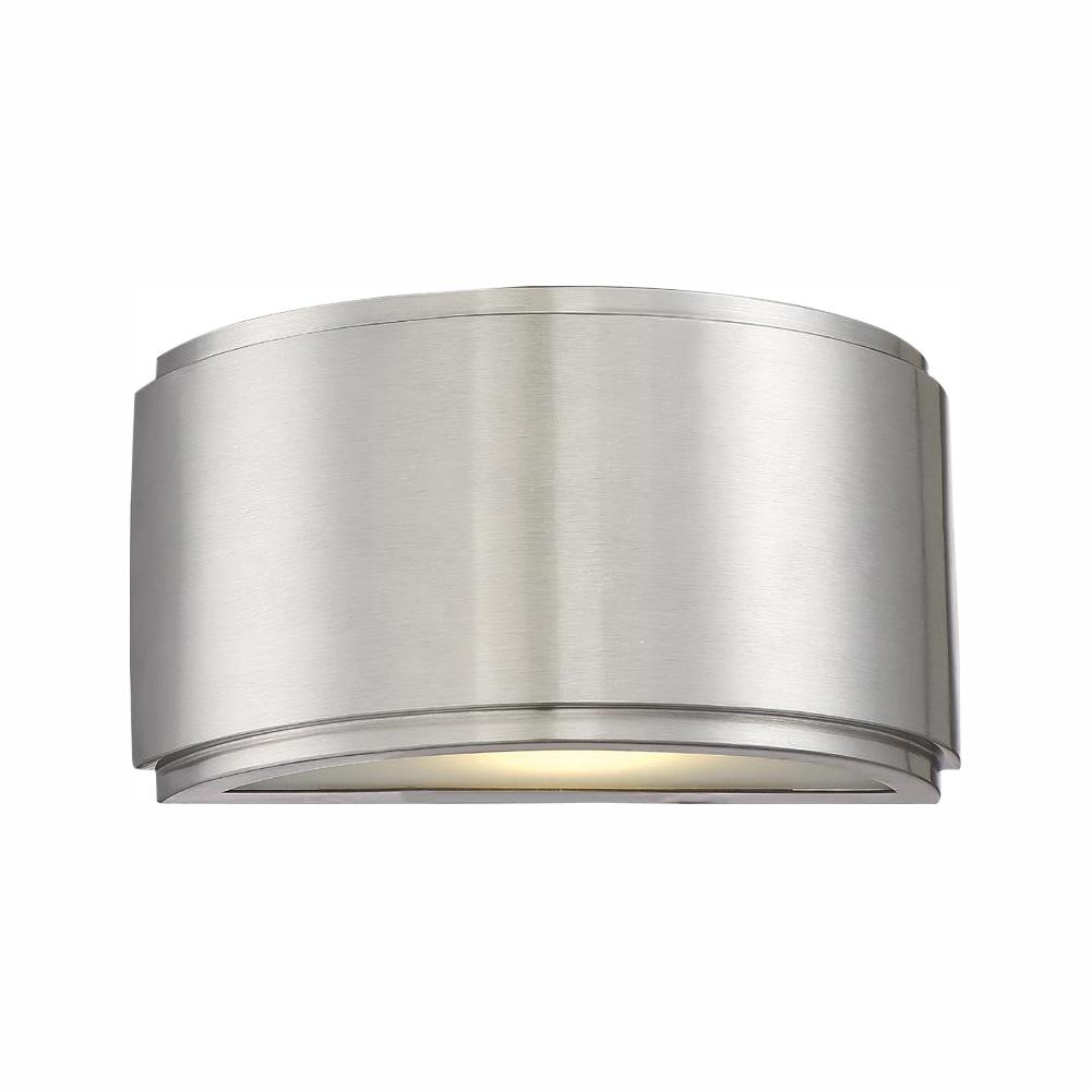 Designers Fountain Halsey 13-Watt Brushed Aluminum Indoor/Outdoor Integrated LED Wall Lantern Sconce was $119.9 now $57.46 (52.0% off)