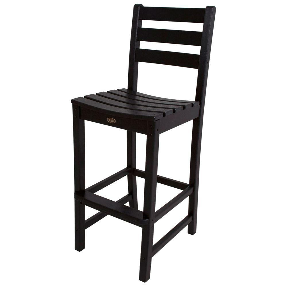 Trex Outdoor Furniture Monterey Bay Charcoal Black Patio Bar Side Chair Txd102cb The Home Depot