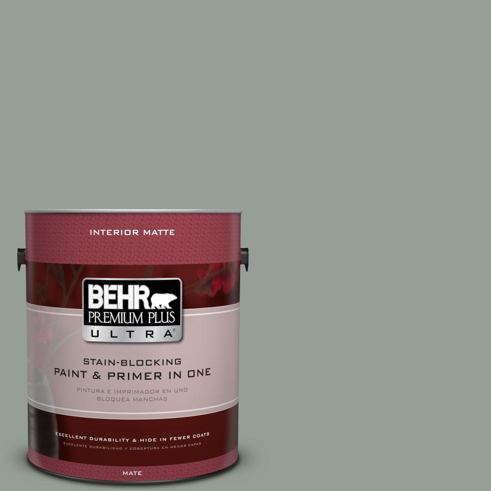 1 gal. #N400-4 Forest Path Matte Interior Paint and Primer in