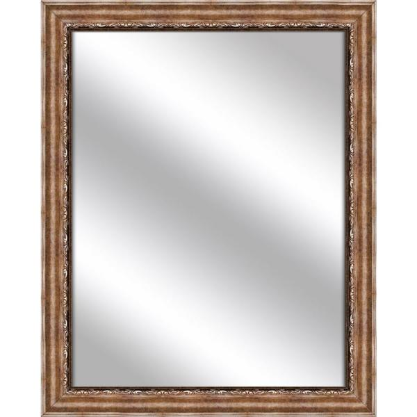 Medium Rectangle Gold Art Deco Mirror (31.75 in. H x 25.75 in. W)