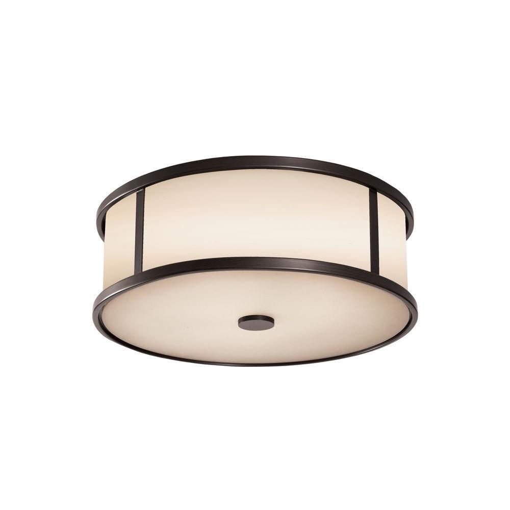 Dakota 2-Light Espresso Ceiling Light