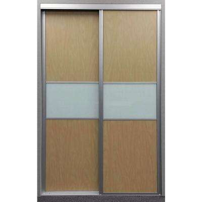 Matrix Maple And Painted Glass Aluminum Interior Sliding Door
