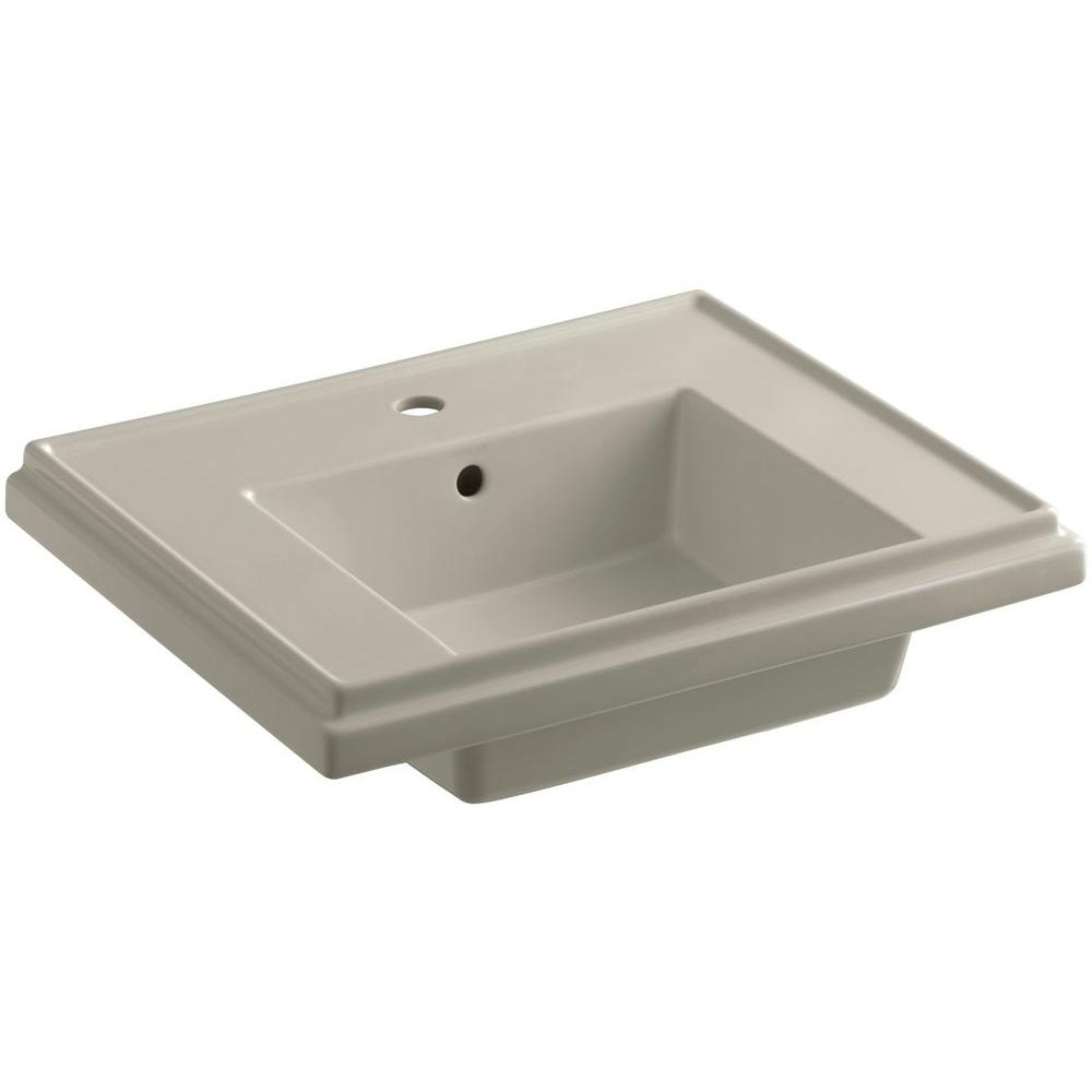 KOHLER Tresham 24 in. Pedestal Sink Basin in Sandbar