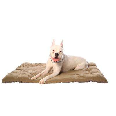 Pet Pac Sac 36 in. x 48 in. Chocolate and Tan Travel Bed