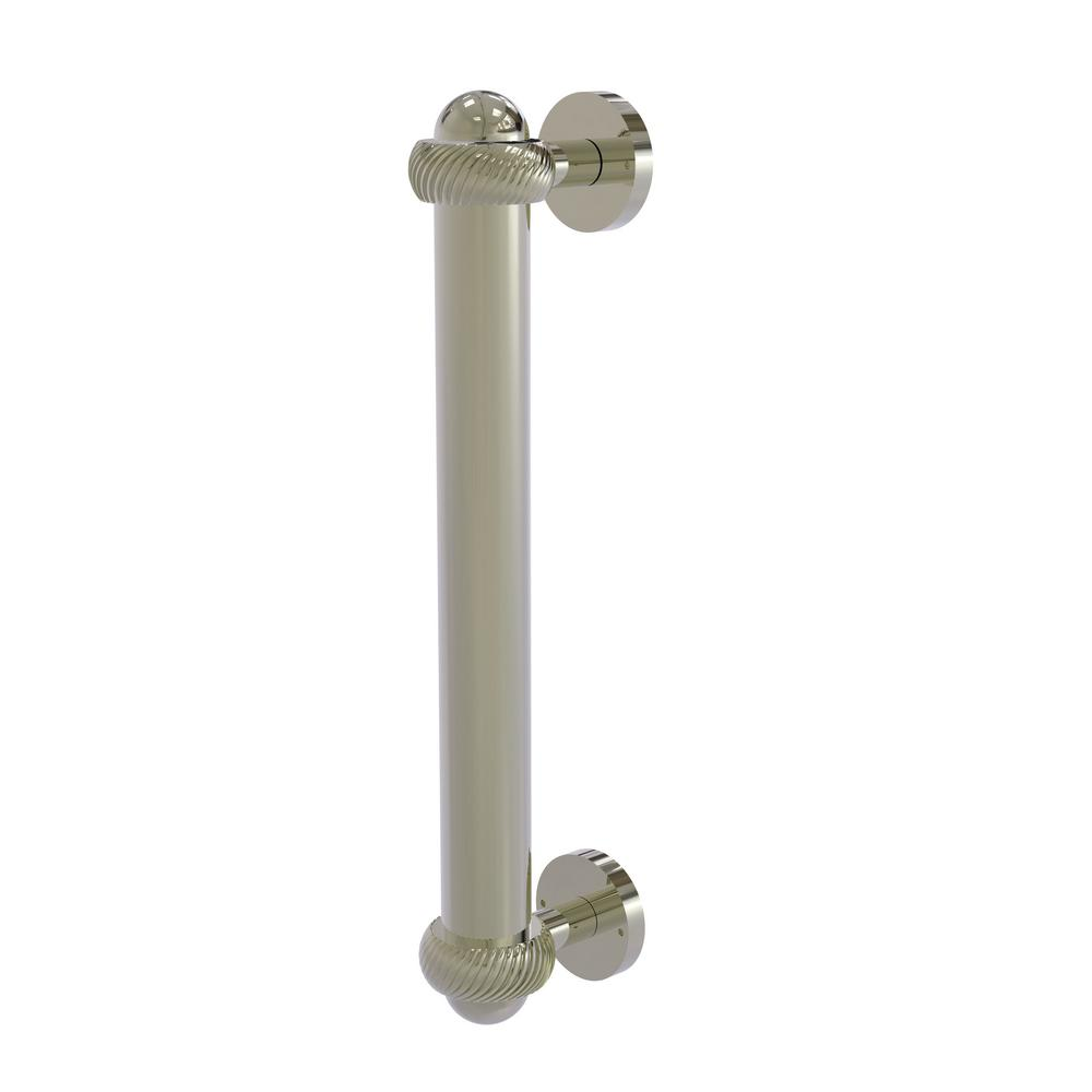 8 in. Door Pull with Twisted Accents in Polished Nickel