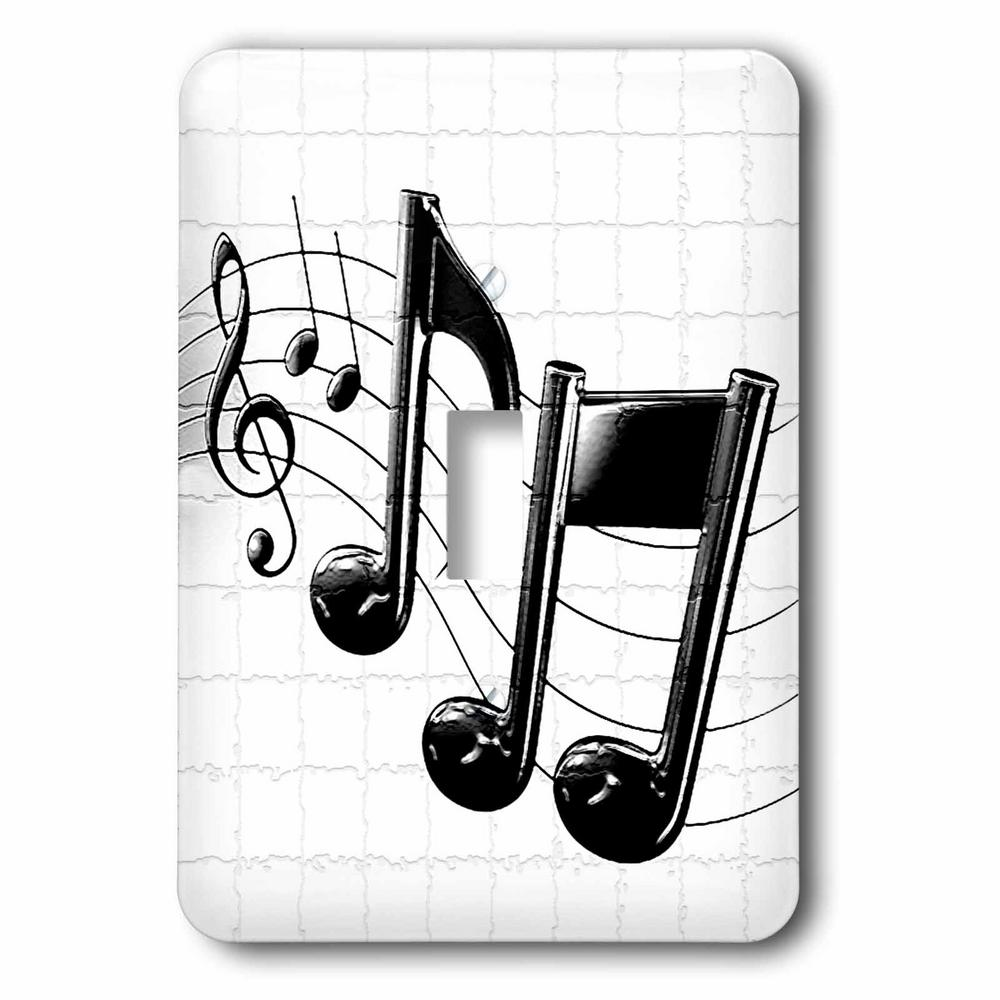 3drose 1 Toggle Wall Plate Music Notes Lsp 4105 1 The Home Depot