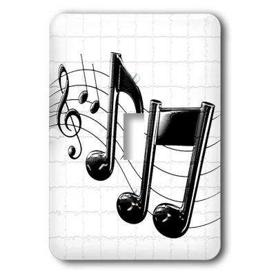 1 Toggle Wall Plate - Music Notes