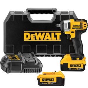 Dewalt 20-Volt MAX Lithium-Ion Cordless 3/8 inch Impact Wrench Kit with (2) Batteries 4Ah, Charger and Case by DEWALT