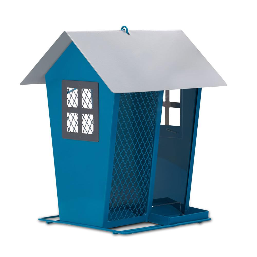Aqua and Silver Seed Duo Bird Feeder
