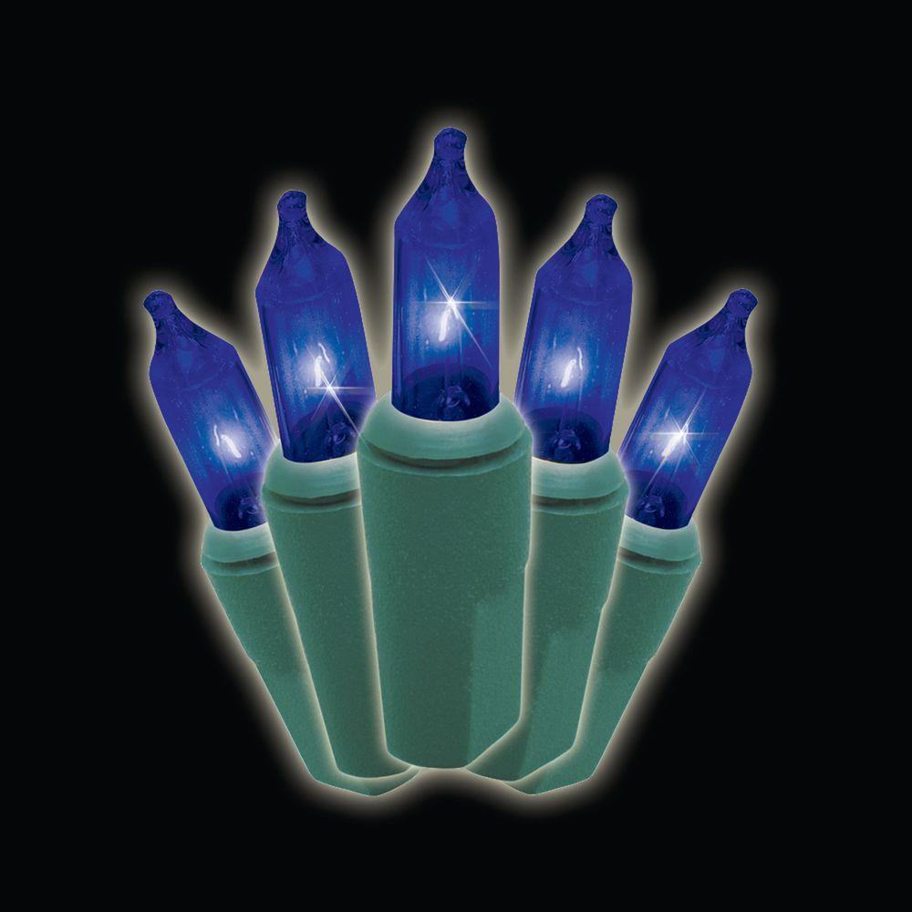 100-Light Blue Designer Strands Lights (Box of 2)