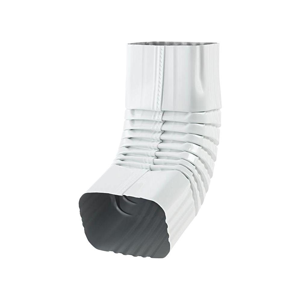 PRO 3 in. x 4 in. White Aluminum A Elbow