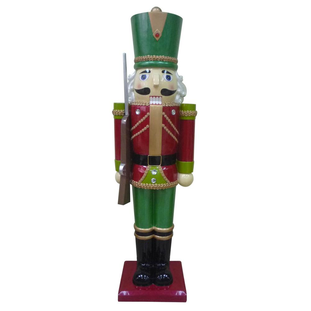 Home Accents Holiday 3 ft. Metallic Nutcracker Soldier with Staff ...