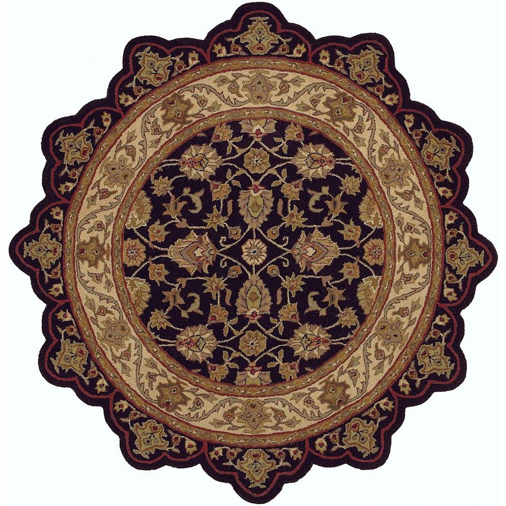 Lr Resources Shapes Black Ivory 8 Ft Star Shaped Area Rug