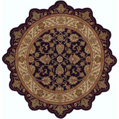 Shapes - Black/Ivory 7 ft. 9 in. Star Shaped Area Rug
