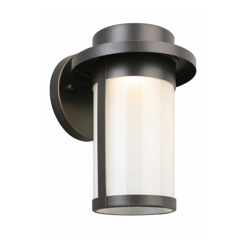Longmont Oil Rubbed Bronze Outdoor Integrated LED Wall Mount Lantern