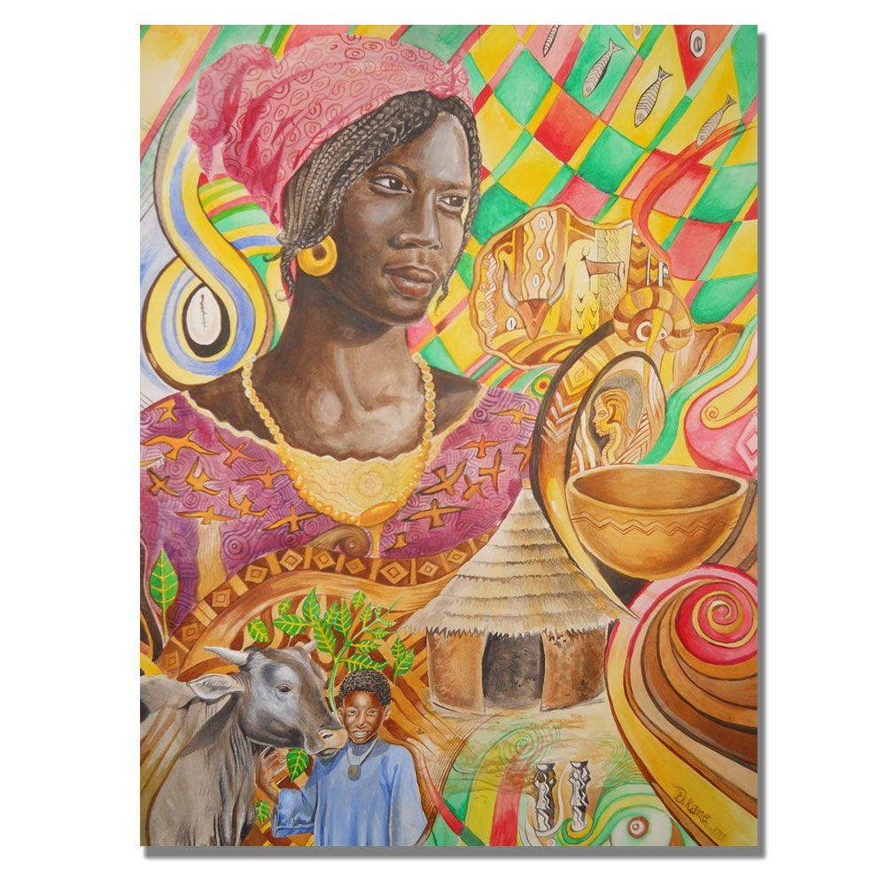 Trademark Fine Art 24 in. x 32 in. Fulani Beauty Canvas Art