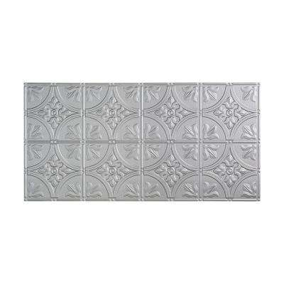 Traditional 2 - 2 ft. x 4 ft. Glue-up Ceiling Tile in Argent Silver