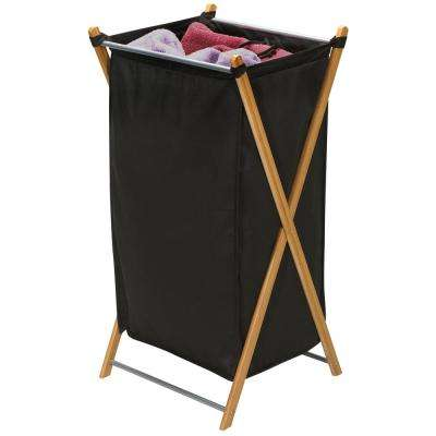 Heavy Duty Bamboo X Frame Laundry Hamper