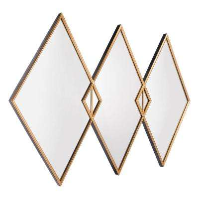 Tres Gold Wall Mirror