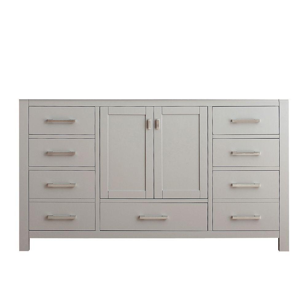 Avanity Modero 60 in. Vanity Cabinet Only in Chilled Gray