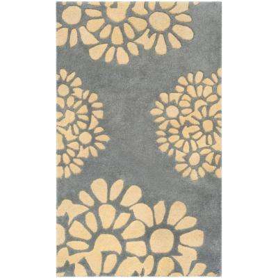 Martha Stewart Cement 2 ft. 6 in. x 4 ft. 3 in. Area Rug