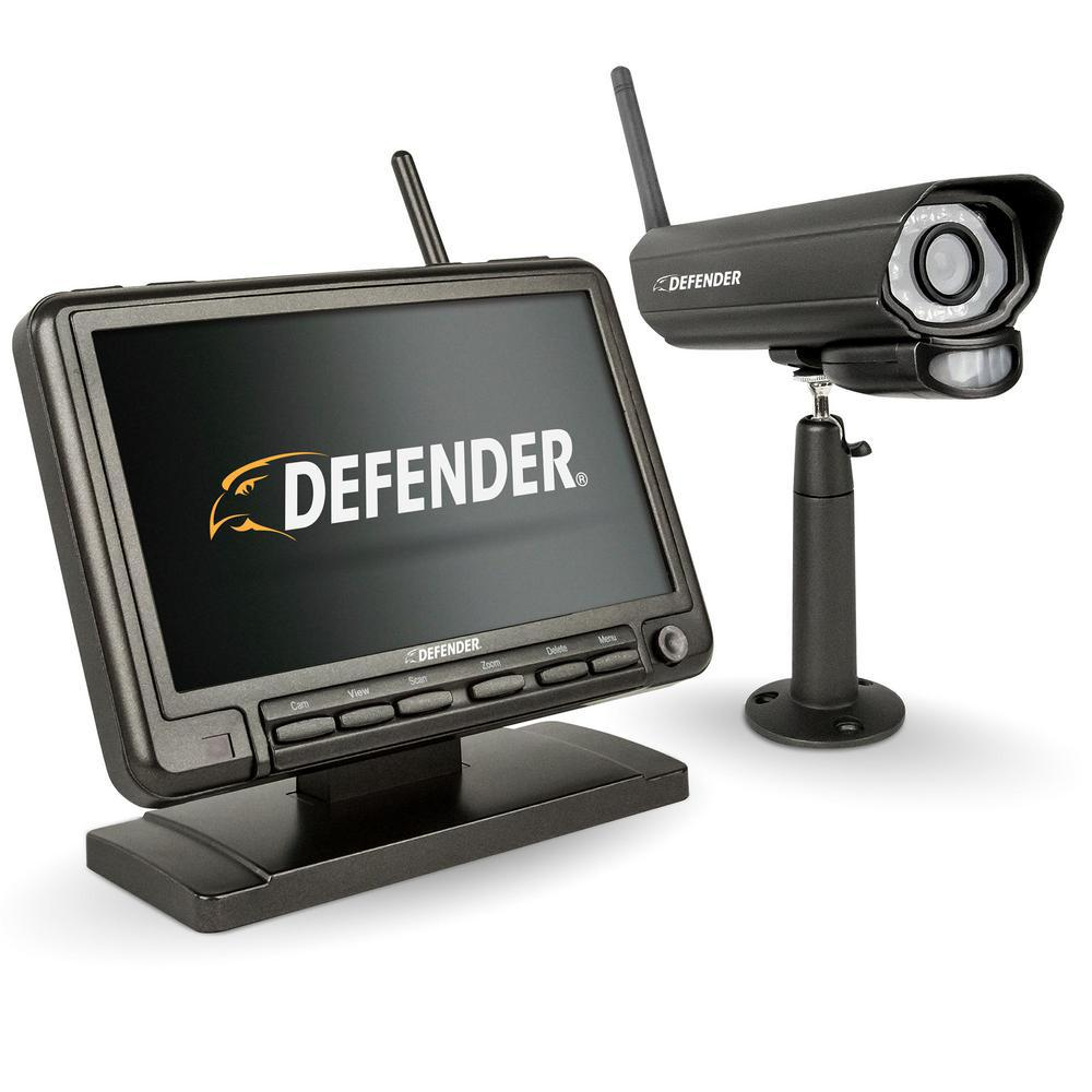 PHOENIXM2 Digital Wireless 7 in. Monitor DVR Security Sys...
