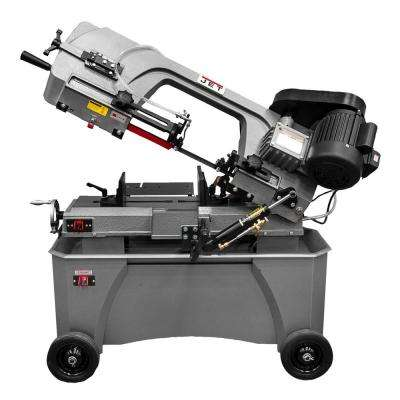 3/4 HP 7 in. X 12 in. Deluxe Metalworking Horizontal/Vertical Band Saw w/ Closed Stand, 4-Speed, 115/230-Volt, HVBS-712D