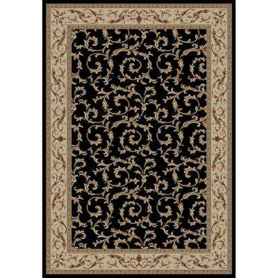 Jewel Veronica Black 8 ft. x 10 ft. Area Rug
