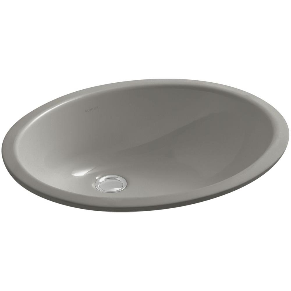KOHLER Caxton Vitreous China Undermount Bathroom Sink with Overflow Drain in Cashmeres with Overflow Drain