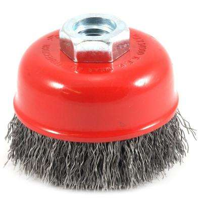 2-3/4 in. x 5/8 in.-11 Threaded Arbor Coarse Crimped Wire Cup Brush