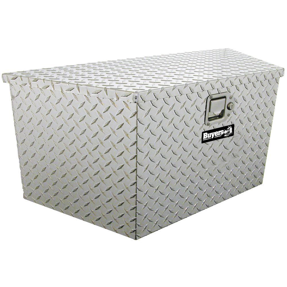 34 Diamond Plate Aluminum  Trailer Tongue Truck Tool Box