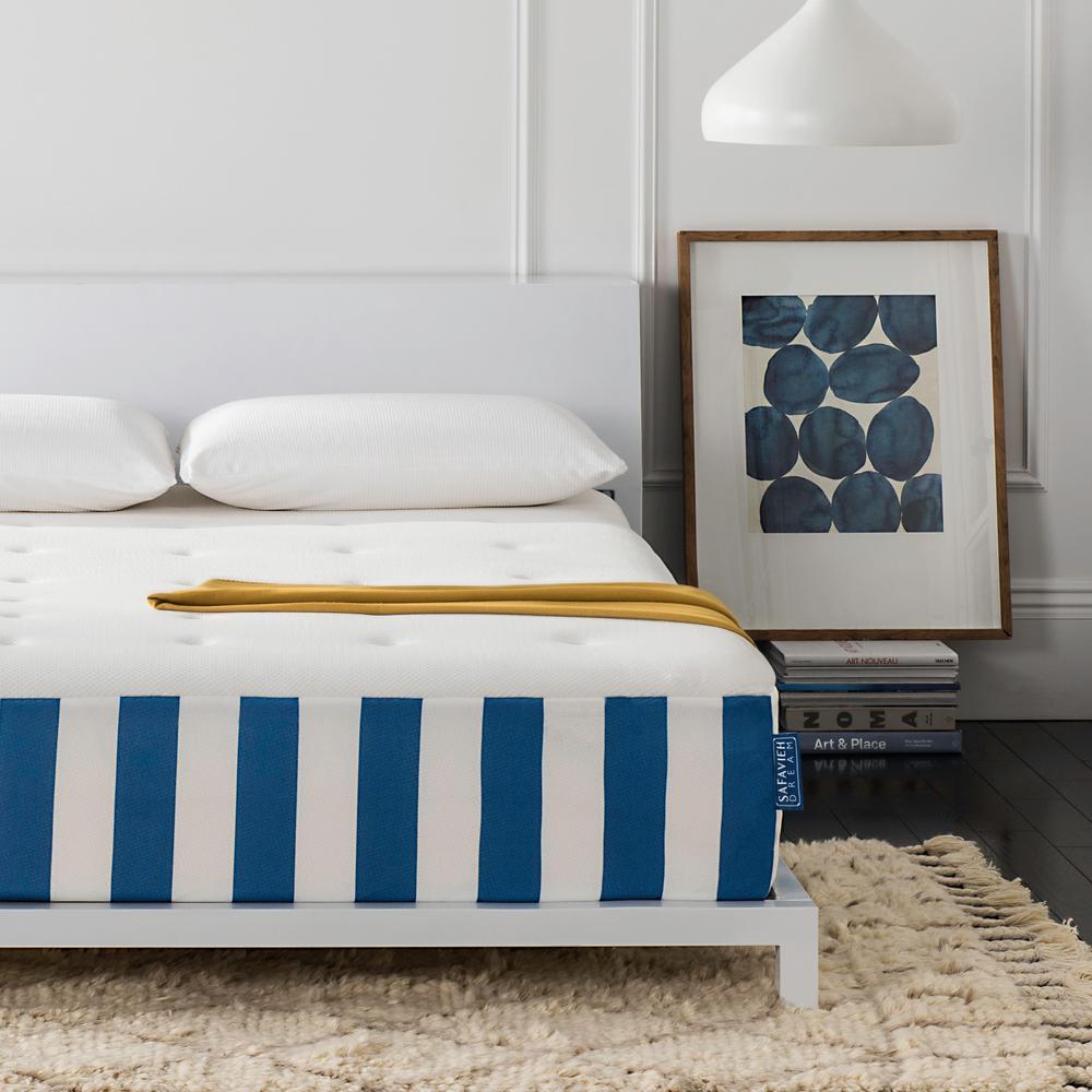 safavieh caress luxury queen hybrid memory foam mattress