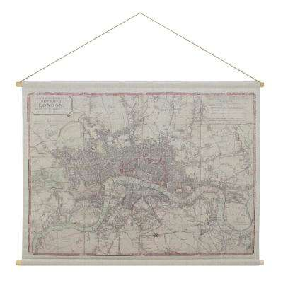 London Map Hanging Linen Tapestry