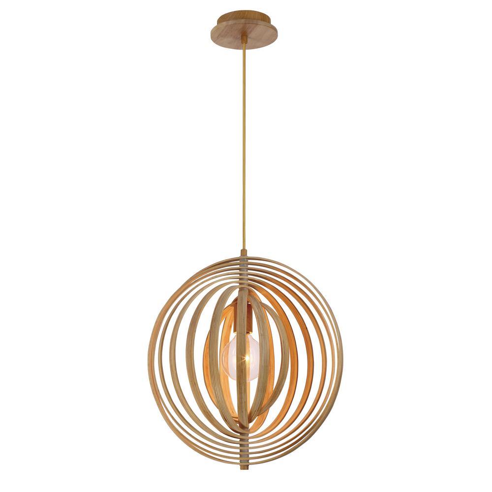 Abruzzo Collection 1-Light Small Wood Pendant